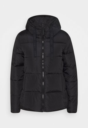 WOMAN JACKET FIX HOOD - Talvitakki - nero