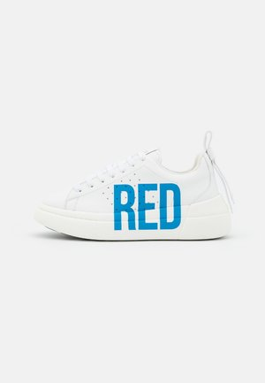 Sneakers laag - bianco/bluette