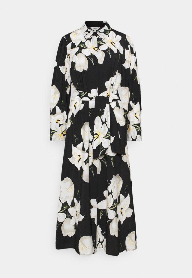 OBJCASANDRA MIDI DRESS - Shirt dress - black