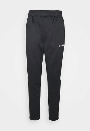 SERENO AEROREADY TRAINING SPORTS SLIM PANTS - Tracksuit bottoms - black/white
