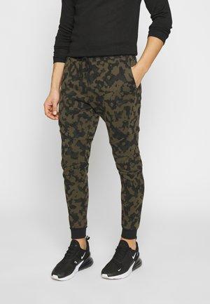 Pantaloni sportivi - medium olive/black
