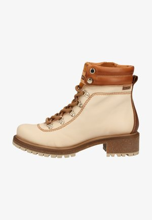 Lace-up ankle boots - marfil