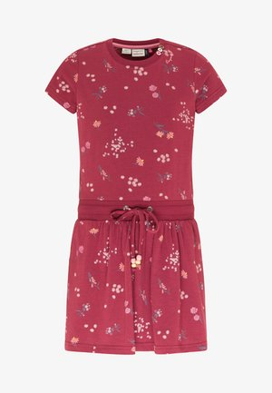 MAGY FLOWERS - Day dress - wine red