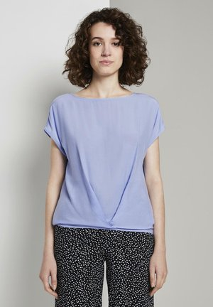 MIT FALTENDETAIL - Blouse - parisienne blue