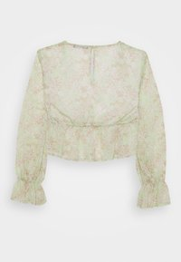 Gina Tricot - EXCLUSIVE ARCHER - Blouse - green ditsy - 6