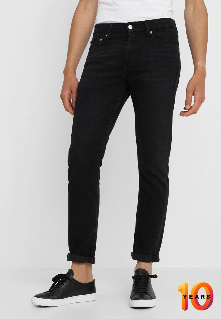 Calvin Klein Jeans - 026 SLIM - Džíny Slim Fit - copenhagen black