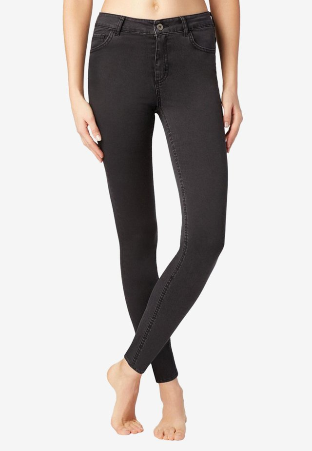 SEXY SLIM-FIT JEANS IN HELLER WASCHUNG - Jeans Slim Fit - black