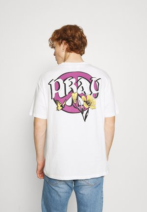 PEACE OUT UNISEX - Print T-shirt - off white