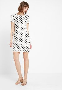Vila - VITINNY - Shift dress - snow white/black - 1