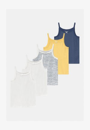 5 PACK - Undershirt - dark blue/yellow/white