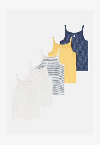 5 PACK - Undershirt - dark blue/yellow/white