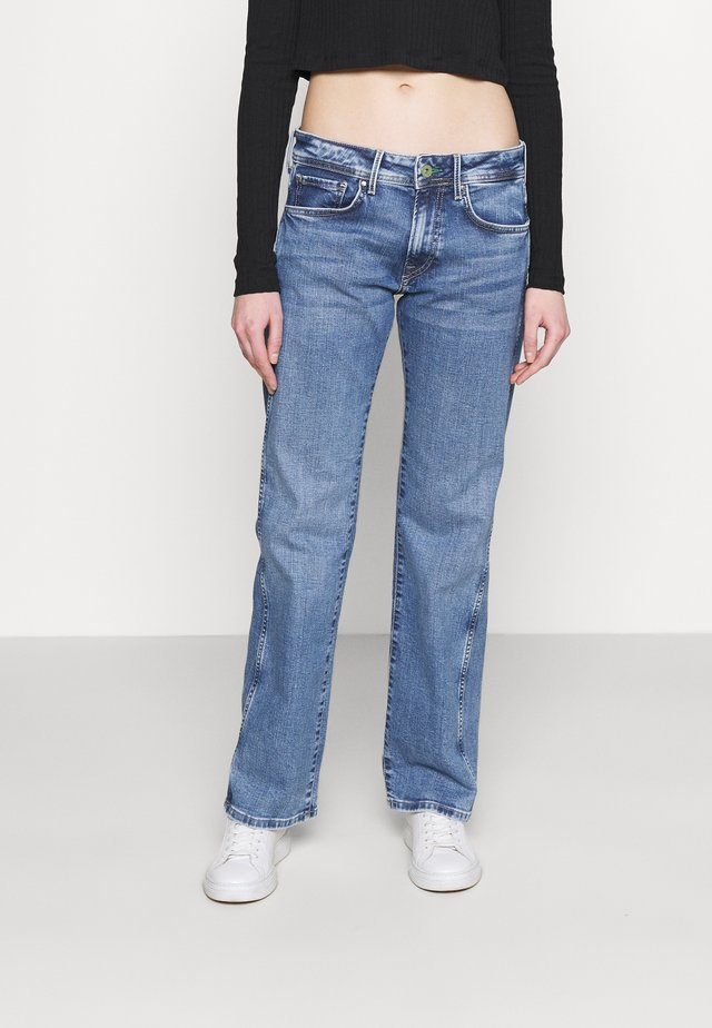 NEW OLYMPIA - Jeans straight leg - light blue denim