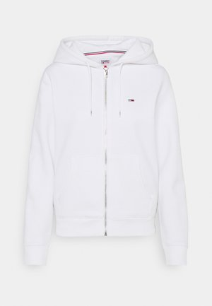 REGULAR HOODIE ZIP THROUGH - Felpa aperta - white
