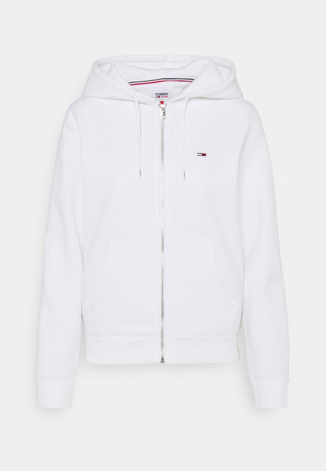 REGULAR HOODIE ZIP THROUGH - veste en sweat zippée - white