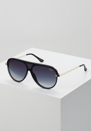EMPIRE - Sunglasses - matte black/gold-coloured/smoke fade