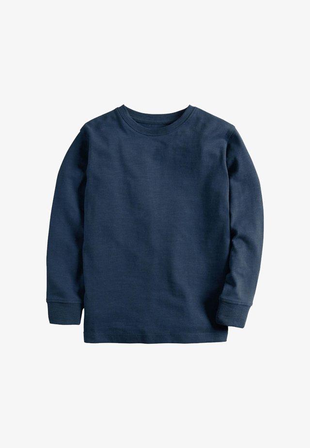 Long sleeved top - mottled blue
