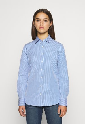 PERFECT SHIRT IN CLASSIC STRIP - Button-down blouse - banker blue