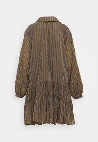 Glamorous Tall - LADIES DRESS GINGHAM - Košilové šaty - olive metallic - 6