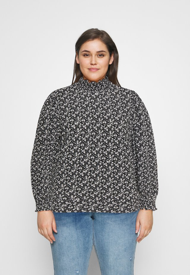 CARZILLY - Blouse - black/white flower