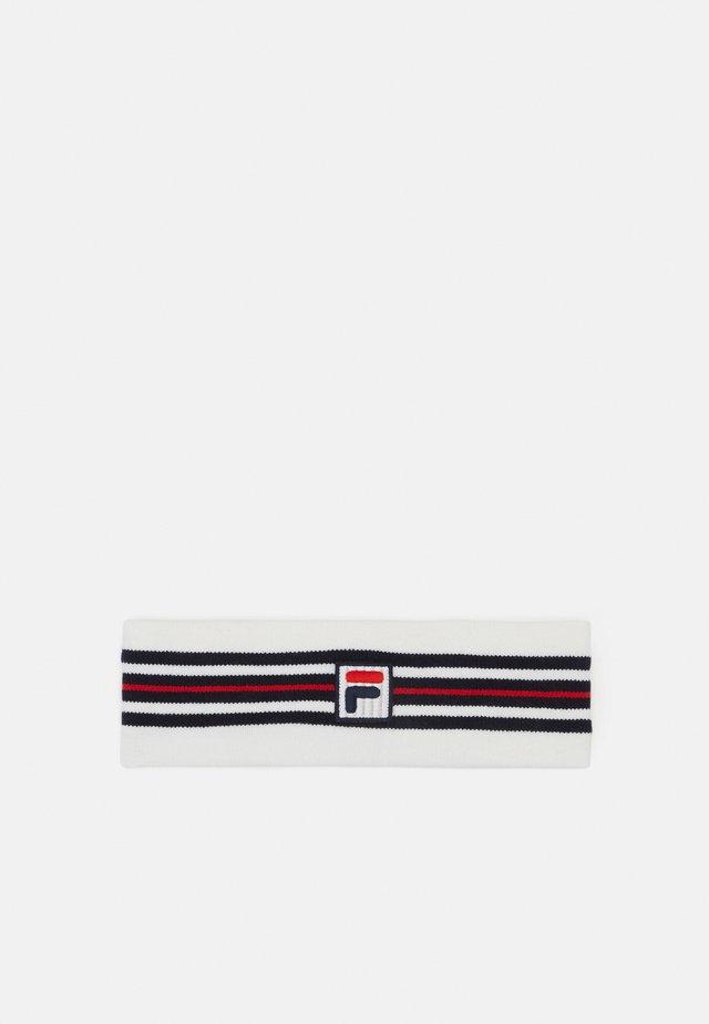 INTARSIA HEADBAND WITH F-BOX LOGO - Beanie - blanc de blanc/true red/black iris