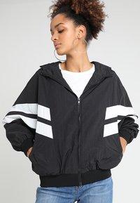 Urban Classics - CRINKLE BATWING  - Outdoor jacket - black/white - 0