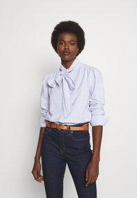 Polo Ralph Lauren - LONG SLEEVE BUTTON FRONT SHIRT - Camicetta - blue multi - 0