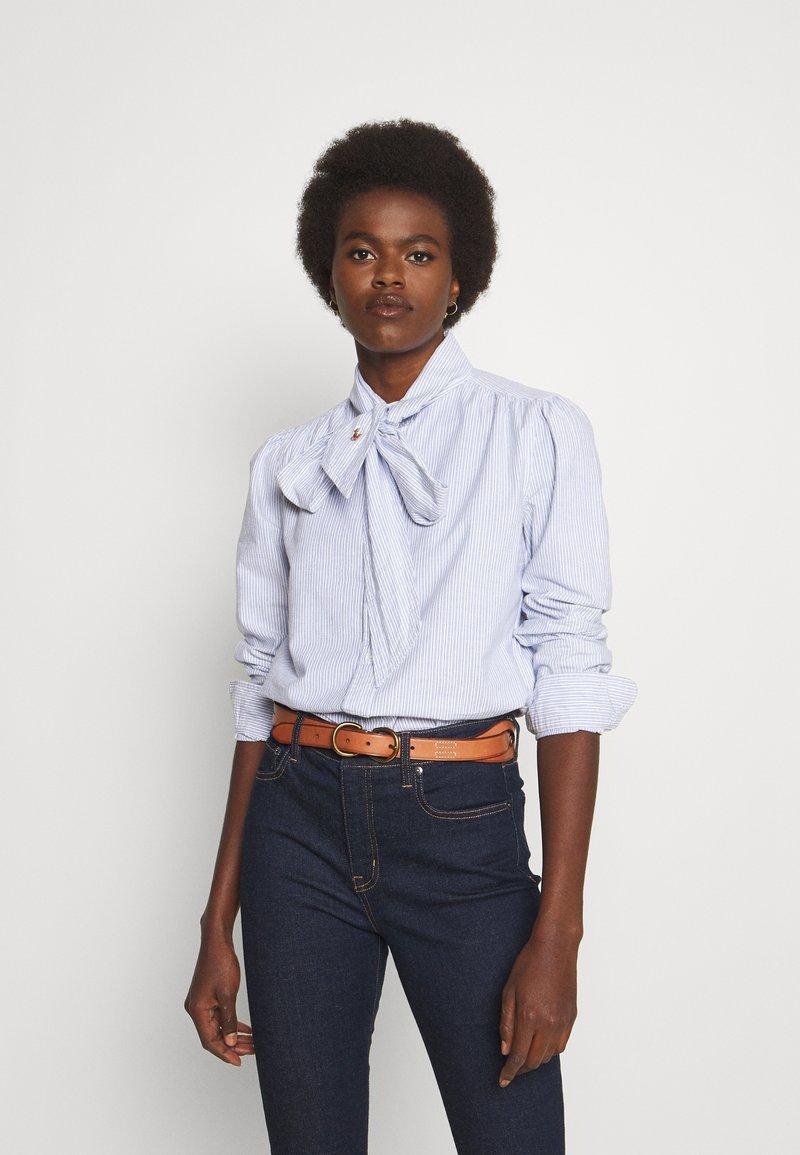 Polo Ralph Lauren - LONG SLEEVE BUTTON FRONT SHIRT - Camicetta - blue multi
