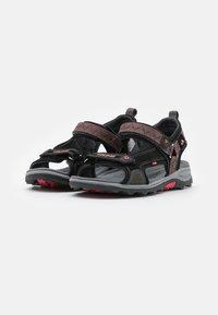 Viking - SANDOEY UNISEX - Walking sandals - black/red - 1
