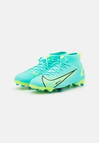 Nike Performance - MERCURIAL 8 ACADEMY MG UNISEX - Moulded stud football boots - dynamic turquoise/lime glow - 1