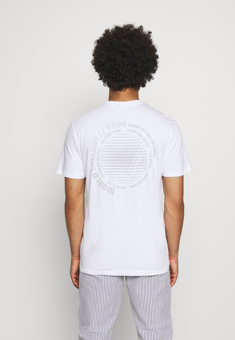 Only & Sons - ONSARNE LIFE TEE - Printtipaita - white