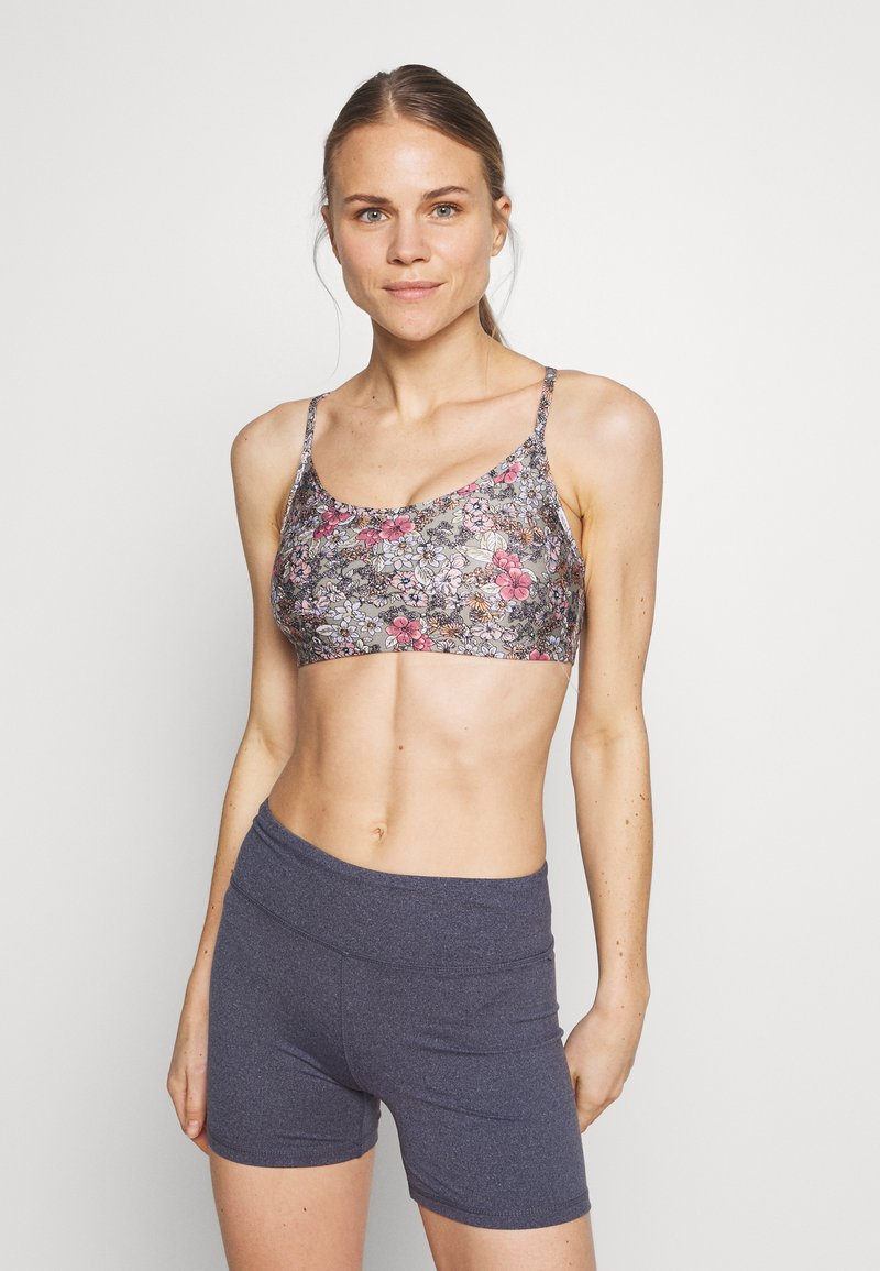 Cotton On Body - WORKOUT YOGA CROP - Sujetador deportivo - steely shadow