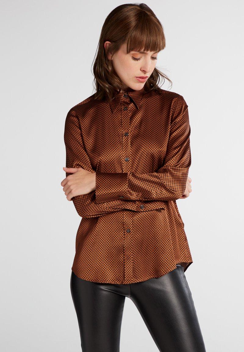Eterna - Button-down blouse - bronze