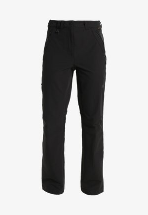 ACTIVATE WOMEN - Pantalones montañeros largos - black