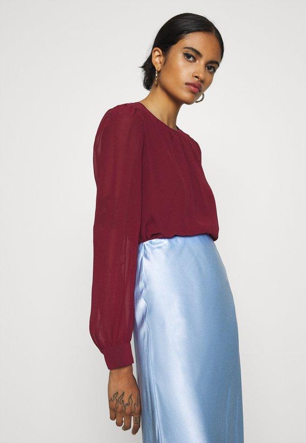 Vero Moda VMIRIS DOUBLE LAYER - Bluzka - cabernet Kolor jednolity Odzież Damska DVAC KP 1