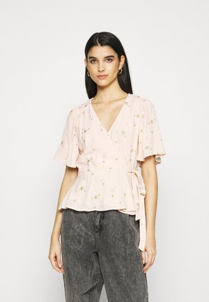 BELLE BLOUSE - Bluser - pink/gold