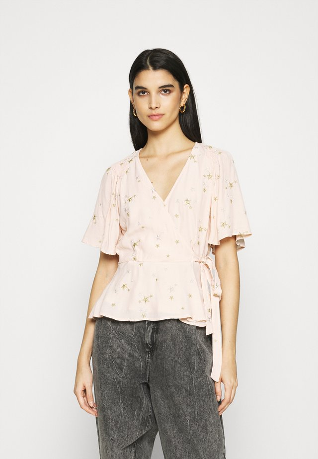 BELLE BLOUSE - Bluzka - pink/gold
