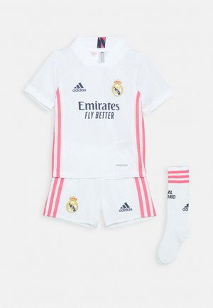 REAL MADRID AEROREADY SPORTS FOOTBALL MINIKIT SET - Pantalón corto de deporte - white