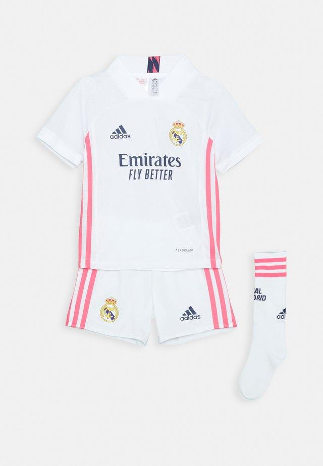 REAL MADRID AEROREADY SPORTS FOOTBALL MINIKIT SET - Sports shorts - white