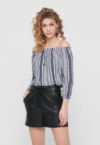 ONLY - OFF SHOULDER TOP GESTREIFTES - Blouse - cloud dancer - 0