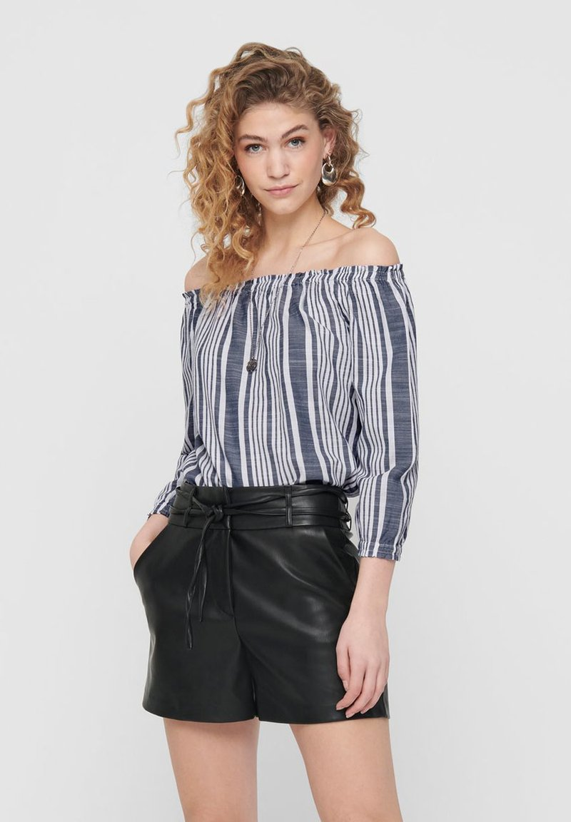 ONLY - OFF SHOULDER TOP GESTREIFTES - Blouse - cloud dancer