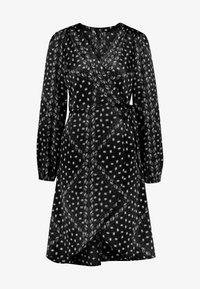 Vero Moda - VMGAMMA WRAP DRESS - Robe d'été - black/nice - 4