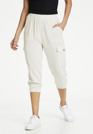 Cargo trousers - light sand linen