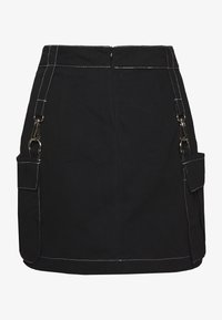 The Ragged Priest - MINI SKIRT WITH TRIGGERS - Minifalda - black - 1