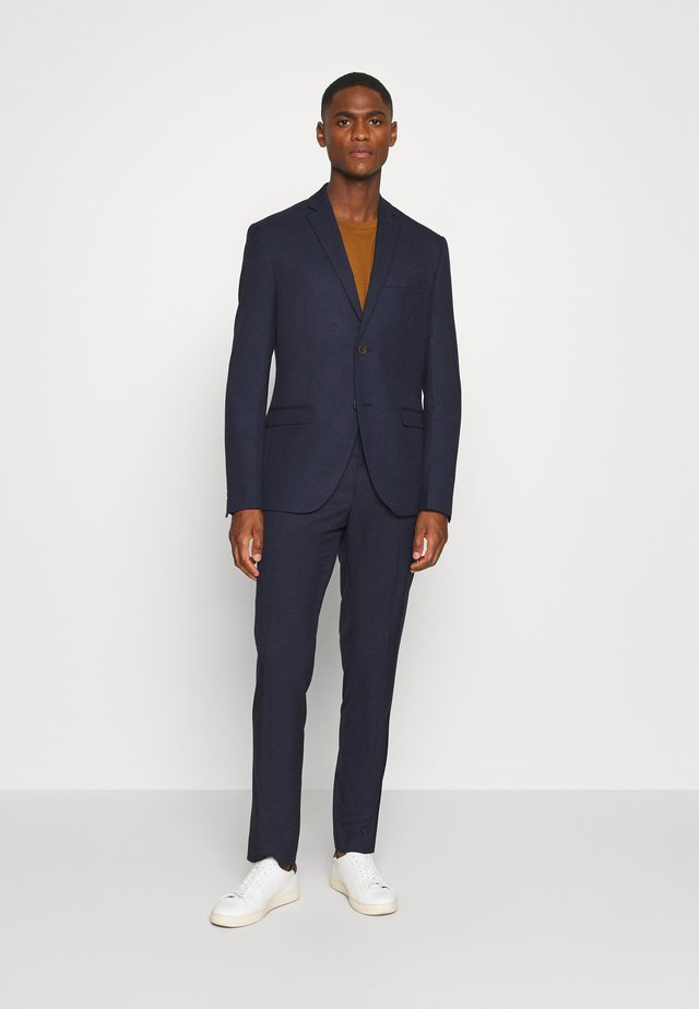 CHECK SUIT - Suit - dark blue