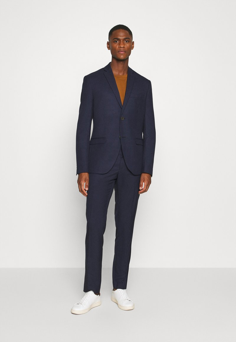 Isaac Dewhirst - CHECK SUIT - Traje - dark blue