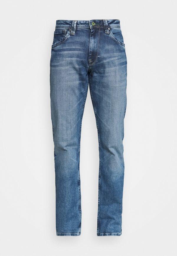 Pepe Jeans KINGSTON ZIP - Jeansy Straight Leg - wh9/niebieski denim Odzież Męska ESOM