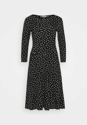 MONO FIT & FLARE  - Day dress - black