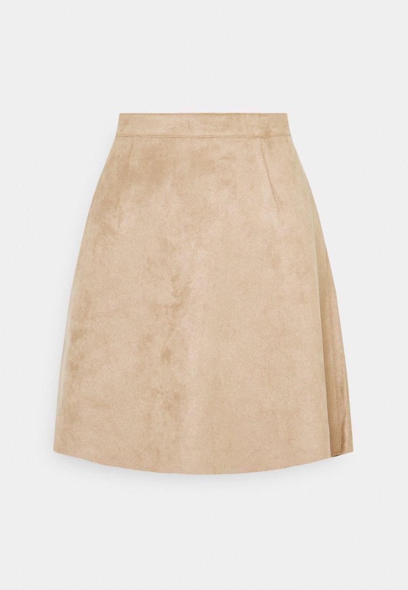 Vila - VIFADDYPEN SKATER SKIRT - A-line skirt - brown