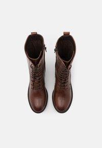 Zign - Šněrovací vysoké boty - dark brown - 5