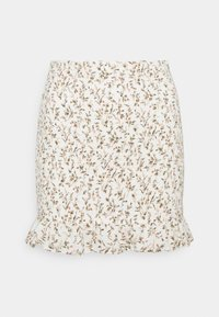 Abercrombie & Fitch - SMOCKED MINI - Mini skirt - white - 0